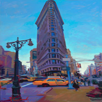 NICK PACIOREK - Flatiron Split - Giclee on Canvas - 58x30 inches