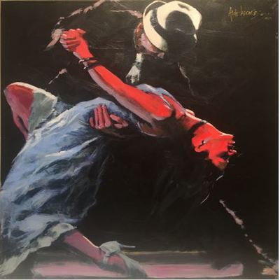 ALDO LUONGO - Tango Mio - Hand Finished Giclee on Canvas -  25 x 35 inches