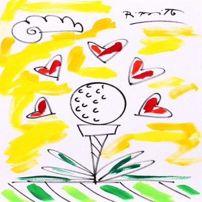 ROMERO BRITTO - Sunny Day - Original on Paper - 14 x 11 inches