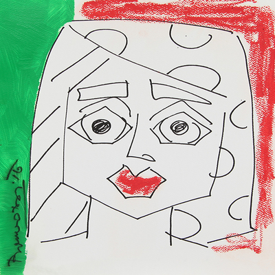 ROMERO BRITTO - Italy - Original on Paper - 16 x 12 inches