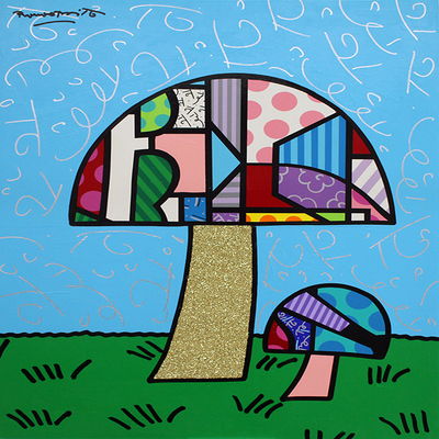 ROMERO BRITTO - Cogumelo - Original on Paper - 48 x 36 inches