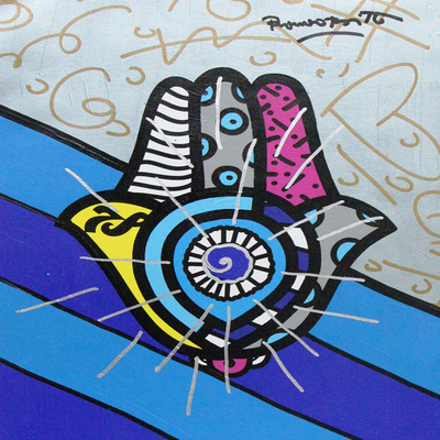 ROMERO BRITTO - Good Luck - Mixed Media on Canvas - 14 x 12 inches