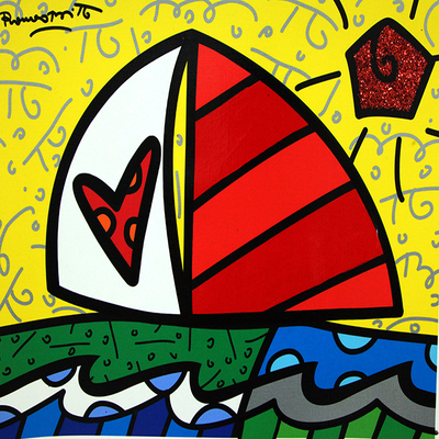 ROMERO BRITTO - Back Home - Mixed Media on Canvas - 16 x 20 inches