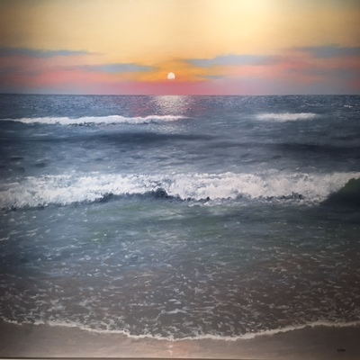 Title: Ocean Calm , Size: 30 x 40 inches , Medium: Oil on Canvas