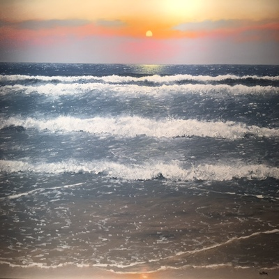 Title: Summer Waves , Size: 30 x 40 inches , Medium: Oil on Canvas
