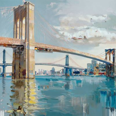 JOSEF KOTE - Glory of Expression - Embellished Giclee on Canvas - 48x72 inches
