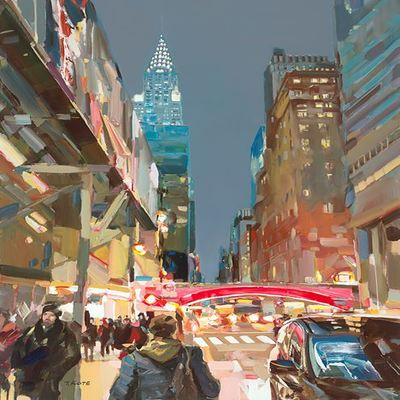 JOSEF KOTE - NYC Lights - Acrylic on Canvas - 36 x 48 inches
