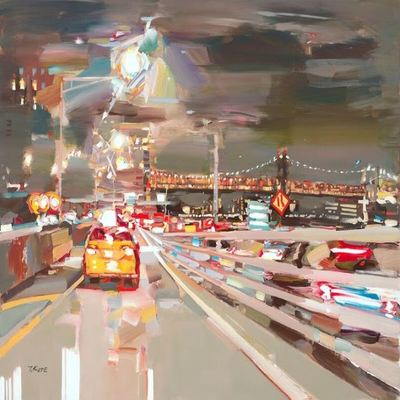 JOSEF KOTE - Beautiful Destination - Acrylic on Canvas - 36 x 48 inches