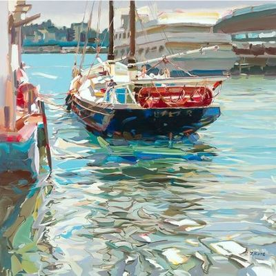 JOSEF KOTE - Pioneer - Acrylic on Canvas - 48 x 48 inches