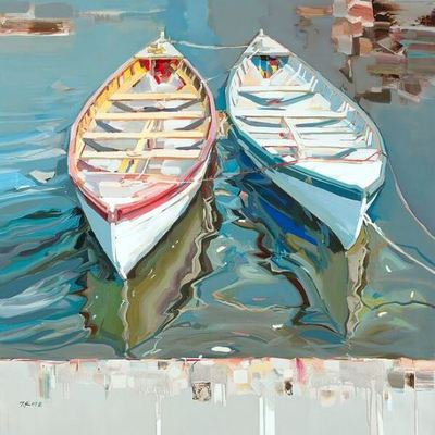 JOSEF KOTE - Serenity Found - Acrylic on Canvas - 48 x 48 inches