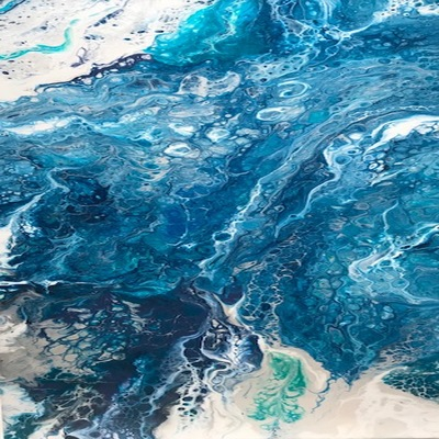 CLAIRE MAGUIRE - Seaside Series - Acrylic on Canvas - 12 x 24 inches