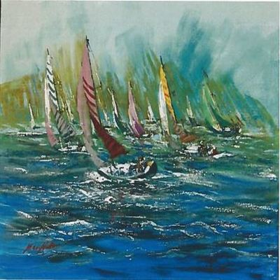 KERRY HALLAM - Figawi - Acrylic on Canvas - 30x36 inches