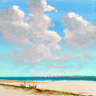 KERRY HALLAM - Summer Cloudscape - Acrylic on Canvas - 30x40 inches