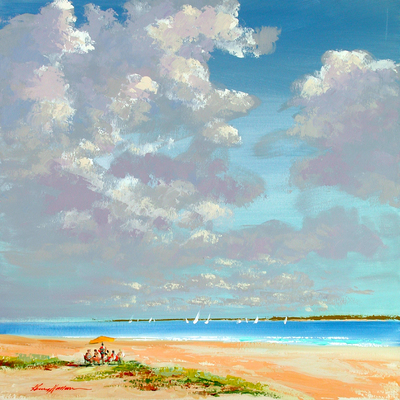 KERRY HALLAM - Cumulus 1 - Acrylic on Canvas - 30x36 inches