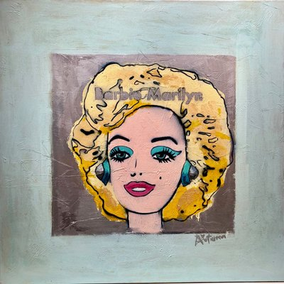 AUTUMN de FOREST - Barbie Marilyn - Acrylic on Canvas - 34x32 inches