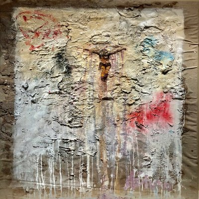 AUTUMN de FOREST - Resurrection (Fresco) - Pigment on Plaster - 48x32 inches