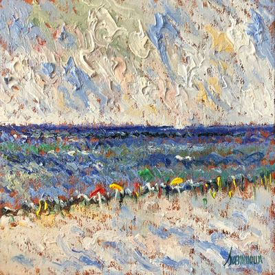 SAMIR SAMMOUN - A La Mer - Oil on Canvas - 12x16 inches