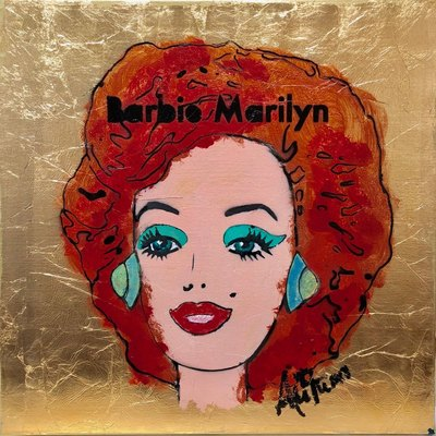 AUTUMN de FOREST - Barbie Marilyn (Redhead) - Acrylic on Canvas - 24x24 inches