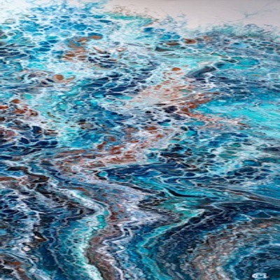 CLAIRE MAGUIRE - Harbor Dance ll - Acrylic on Canvas - 12 x 36 inches