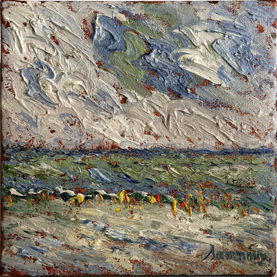 SAMIR SAMMOUN - To the Beach - Oil on Canvas - 8 x 10 inches