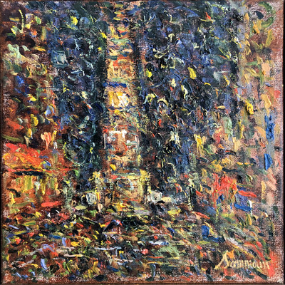 SAMIR SAMMOUN - Time Square NY - Oil on Canvas - 16 x 12 inches