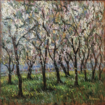 SAMIR SAMMOUN - Cherry Blossom - Oil on Canvas - 30 x 36 inches