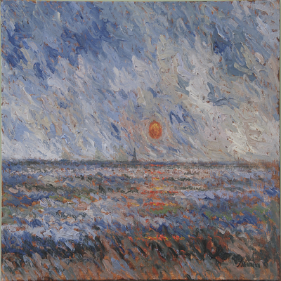 SAMIR SAMMOUN - Sunset Over the Mediterrean - Oil on Canvas - 30 x 40 inches