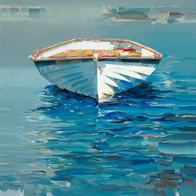 JOSEF KOTE - Somehow It Felt Right - Embellished Giclee on Canvas - 48x36 inches