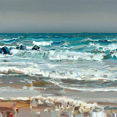 JOSEF KOTE - Best Summer - Embellished Giclee on Canvas - 48x60 inches