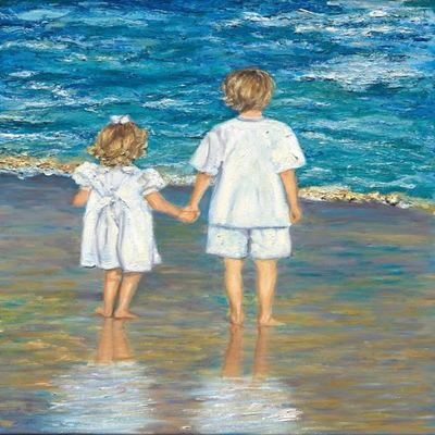 JANE SEYMOUR - Together Forever - Oil on Canvas - 20x16 inches