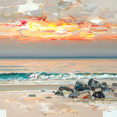 JOSEF KOTE - Sunset Glow - Acrylic on Canvas - 48x60 inches