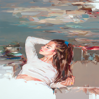 JOSEF KOTE - Divine Sparks - Acrylic on Canvas - 40x60 inches