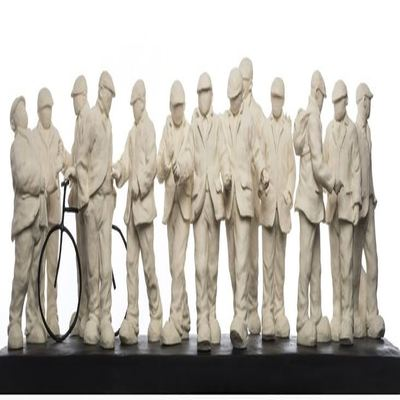 "MACKENZIE THORPE - The Apostles - Cast Parian Sculpture - 10""H x 31""W x 8""D"