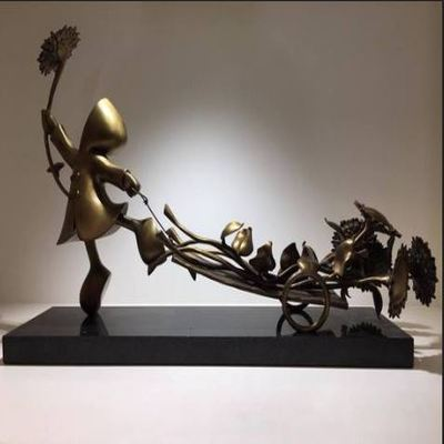 "MACKENZIE THORPE - Bringer of Sunshine - Bronze Sculpture - 16""H x 25""W x 6""D"