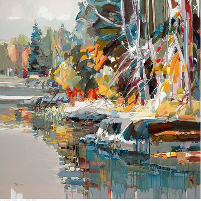 JOSEF KOTE - Paradise Found - Embellished Giclee on Canvas - 40x56 inches