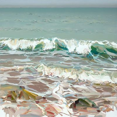 JOSEF KOTE -  Hearing the Tide - Acrylic on Canvas - 36 x 48 inches