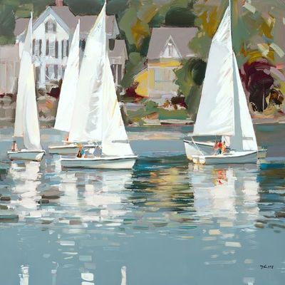 JOSEF KOTE - Sailing Time - Acrylic on Canvas - 36 x 48 inches