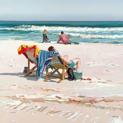 JOSEF KOTE - Peaceful Summer Days - Acrylic on Canvas - 48 x 48 inches