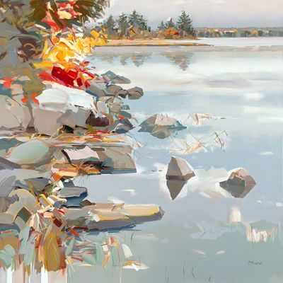 JOSEF KOTE - Immense Beauty - Acrylic on Canvas - 48 x 48 inches