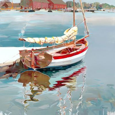 JOSEF KOTE - Bright Morning - Acrylic on Canvas - 48 x 48 inches