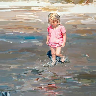 JOSEF KOTE -  Summer Memories - Acrylic on Canvas - 48 x 60 inches