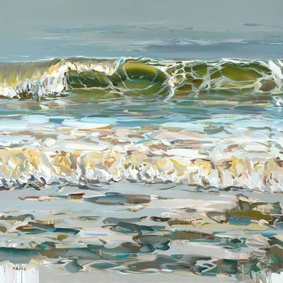 JOSEF KOTE - Translucent Wave - Acrylic on Canvas - 48 x 60 inches