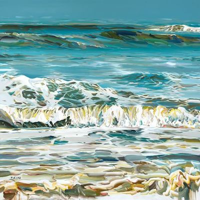 JOSEF KOTE - Blue Waters - Acrylic on Canvas - 48 x 60 inches