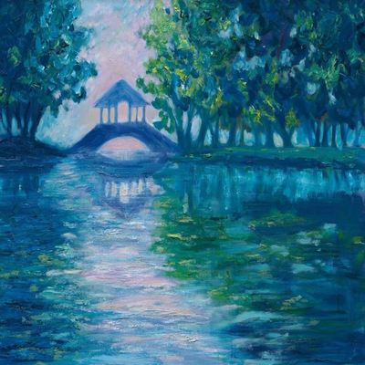 JANE SEYMOUR - Somewhere in Giverny II - Oil on Canvas - 18 x 24 inches