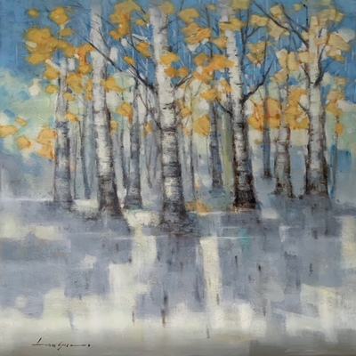 LAWSON - Beauty and the Birch - Oil on Canvas - 30 x 40 inches