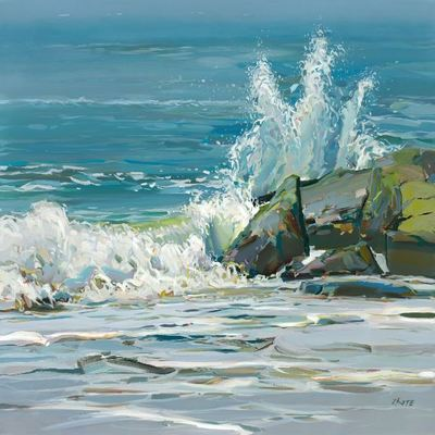 JOSEF KOTE -  Crashing Waves - Acrylic on Canvas - 36x48 inches