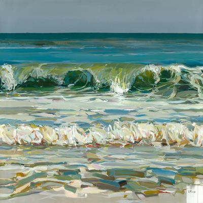 JOSEF KOTE -  Ocean Tides - Acrylic on Canvas - 48x60 inches