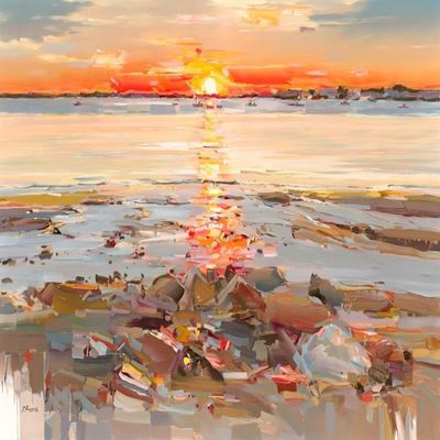 JOSEF KOTE -  Sunset Skies - Acrylic on Canvas - 40x60 inches