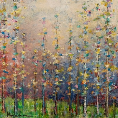 JEFF KOEHN - Through the Trees ll - Oil on Canvas - 21 x 25 inches