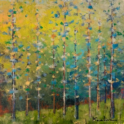 JEFF KOEHN - On the Meadow l - Oil on Canvas - 21 x 25 inches